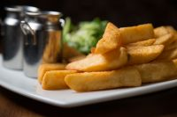 Golden, chunky chips